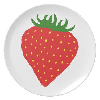 Simply Strawberry custom plate