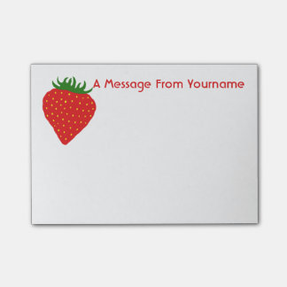 Simply Strawberry custom Post-It notes