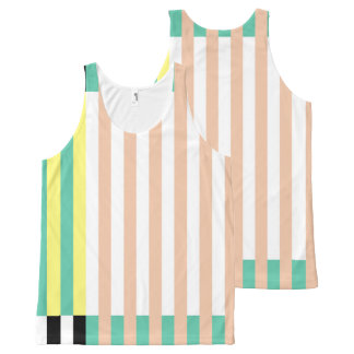 simply stripes mint dusty All-Over-Print tank top