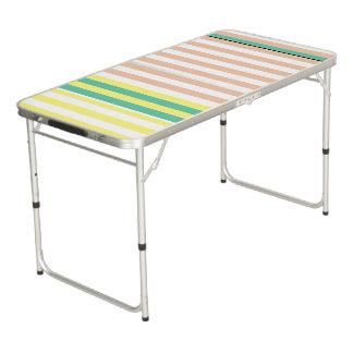 simply stripes mint dusty beer pong table