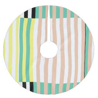 simply stripes mint dusty brushed polyester tree skirt