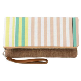 simply stripes mint dusty clutch