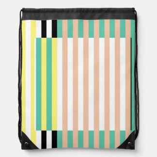 simply stripes mint dusty drawstring bag