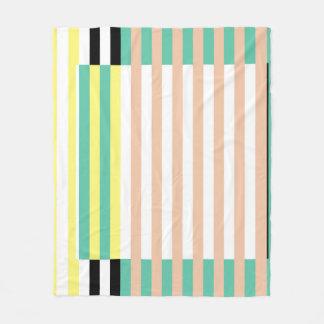 simply stripes mint dusty fleece blanket