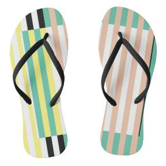 simply stripes mint dusty flip flops