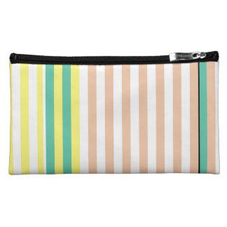 simply stripes mint dusty makeup bag