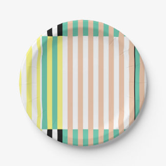 simply stripes mint dusty paper plate