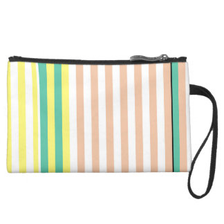 simply stripes mint dusty suede wristlet