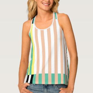 simply stripes mint dusty tank top