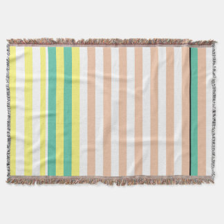 simply stripes mint dusty throw blanket