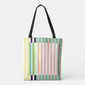 simply stripes mint dusty tote bag