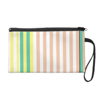 simply stripes mint dusty wristlet