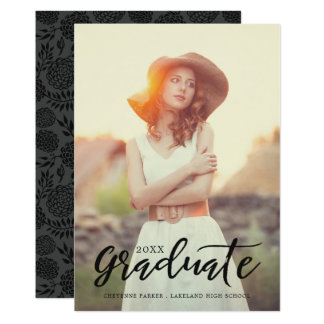 Simply Stylish | Photo Graduation Announcement