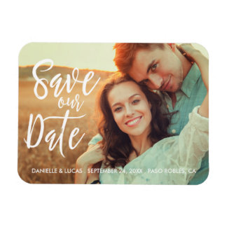 Simply Stylish Save the Date Magnet