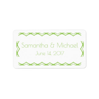 Simply Sweet Lime Green  Favor Bag Label