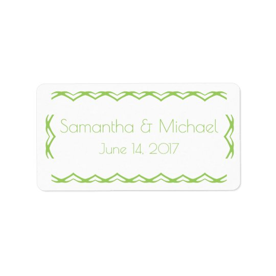 Simply Sweet Lime Green  Favour Bag Label