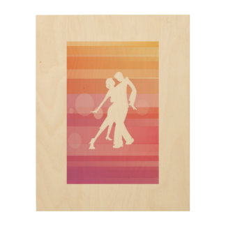 simply tango wood wall art