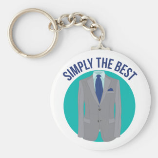 Simply The Best Basic Round Button Keychain