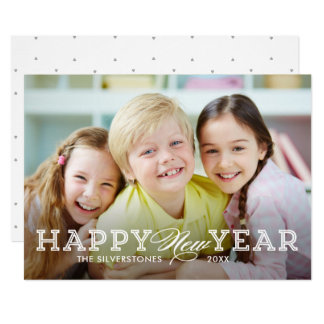 Simply Timeless Happy New Year Photo Card