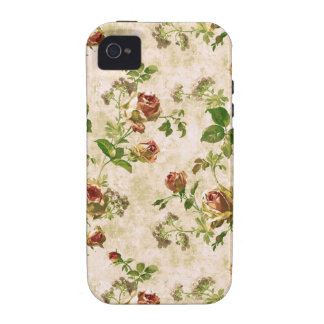 Simply Vintage Cottage Cabbage Roses Case-Mate iPhone 4 Covers