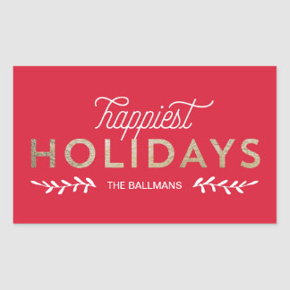 Simply Vintage Faux Foil Holiday Gift Tag Sticker