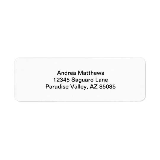 Simply White Solid Colour Personalize It Custom Return Address Label