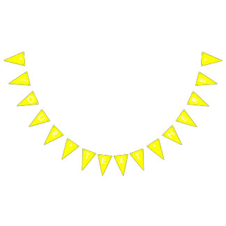 Simply Yellow Solid Color Customize It Bunting Flags