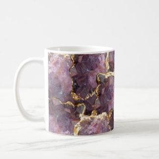 Simplydone Amethyst crystal and gold collage mug