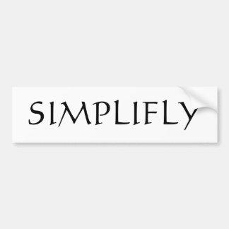 Simplyfly Bumper Sticker