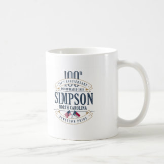 Simpson, North Carolina 100th Anniversary Mug
