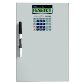 Simulated Calculator Dry-Erase Boards