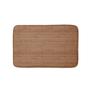 Simulated Cherry Wood Bath Mat