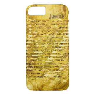 Simulated Gold Foil Paper Shiny Personalized iPhone 7 Case