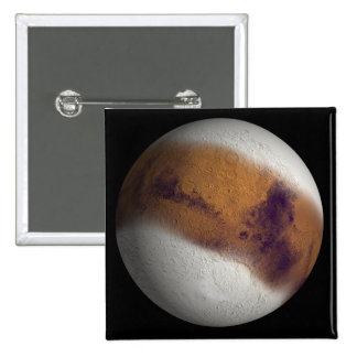 Simulated view of Mars 2 Inch Square Button