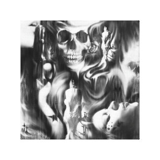 Sin and Smoke mixed media canvas artwork.