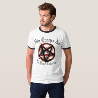 Sin Creeps In T-shirt in White