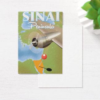 Sinai Peninsula Flight travel poster Business Card