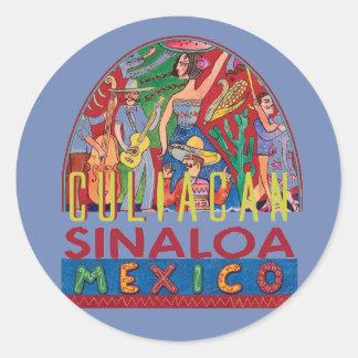 SINALOA Mexico Classic Round Sticker
