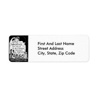 Sinbad the Sailor and Ali Baba Cover Custom Return Address Label
