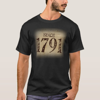 Since 1791 - Bill of Rights on Mens Black T-Shirt