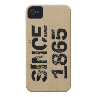 """""""Since 1865"""" Print on Cardboard iPhone 4 Cover"""