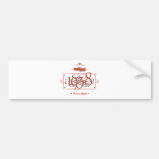 Since 1938 (Red&Black) Bumper Sticker