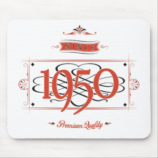 Since 1950 (Red&Black) Mouse Pad