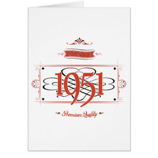 Since 1951 (Red&Black) Card