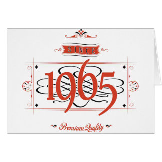 Since 1965 (Red&Black) Card