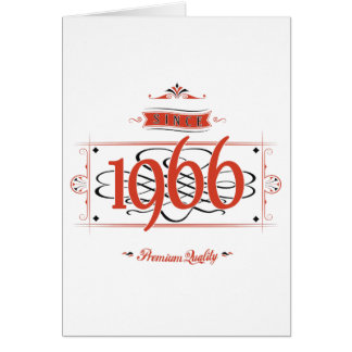 Since 1966 (Red&Black) Card