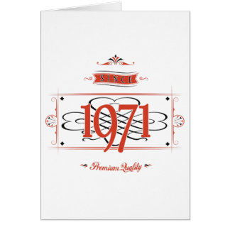 Since 1971 (Red&Black) Card