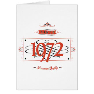 Since 1972 (Red&Black) Card
