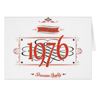 Since 1976 (Red&Black) Card