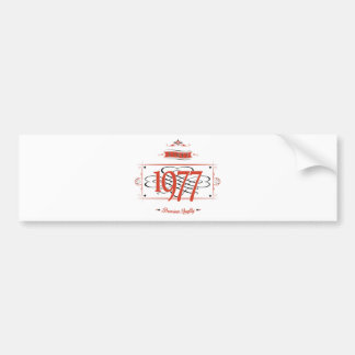 Since 1977 (Red&Black) Bumper Sticker